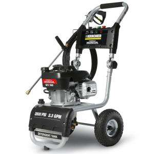 Karcher 2600 psi 2.3 GPM Honda Engine Gas Pressure Washer G 2600 VH at