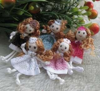 Cute Pattern dress girl small doll craft/appliques DIY handicraft U