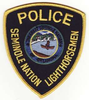 Lighthorsemen OK Oklahoma Seminole Nation Police Patch
