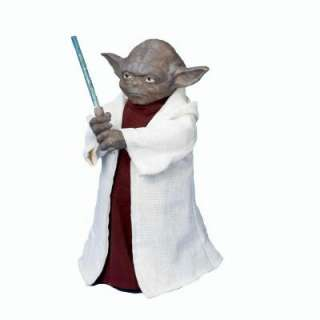 12 in. Star Wars Yoda with LED Light Saber Tree Topper SW9902 at The