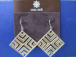 anna beck .925 silver earrings