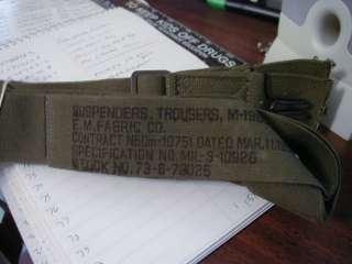 US KW M50 Combat Suspenders Dated 3/1952, Mint Unissue