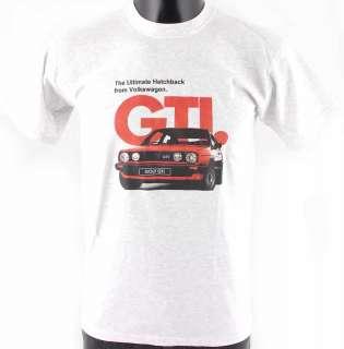 VOLKSWAGEN VW Golf GTi Mk2 Car Grey Cotton T Shirt