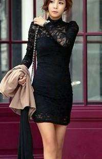 D345 Womens Romantic Rose Lace Collared Dress 6 8