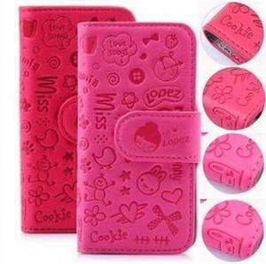 Girl Flip Leather Case Skin Cover Pouch for Apple iPhone 4 4G
