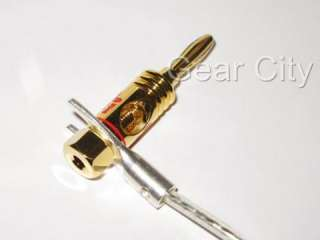 Gold Plated Banana Plug Speaker Cable Wire Open Screw Connector Hi