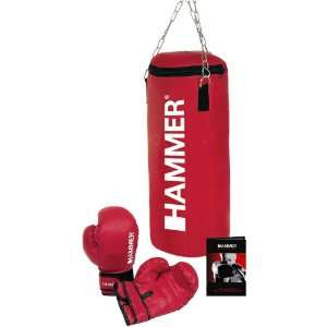HAMMER Box Set Home Set Fit, rot, 28x60 cm  Sport