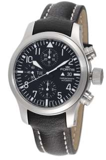 Fortis B 42 Flieger Automatic Mens chronograph black Watch 656.10.11