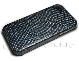Lizard Skin design Leather Hard Case cover for iPhone 4 4G