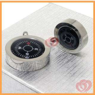 Navigation Compass Stainless Steel Pendant Camping