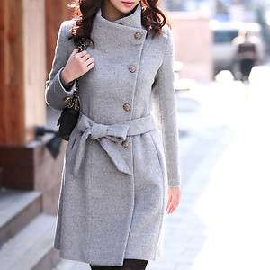 New Black Beige Gary Womens Warm Trench Jacket Coat with Belt Zoom