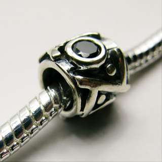 Sterling Silver Spacer Charm .925 Choose Style 9 Types Bead Fit