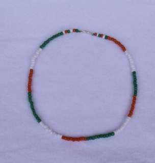 IRISH Pride Choker Opaque Glass Beads Anklet Bracelet