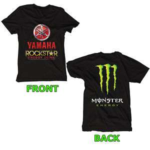 NEW YAMAHA ROCKSTAR BLACK   WHITE T Shirt Size S XL