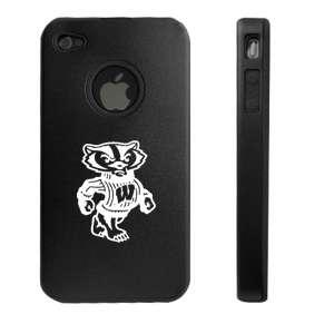 iPhone 4 4S 4G Aluminum metal hard case cover WISCONSIN BADGERS