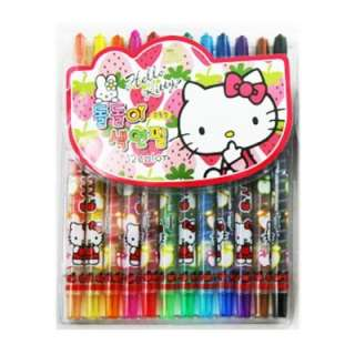 Sanrio Hello Kitty 12 Colors Crayons  Strawberry