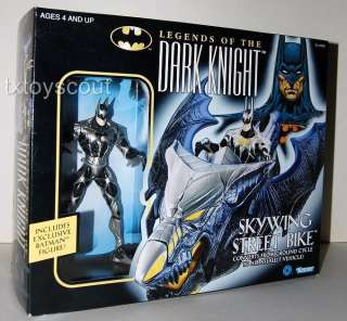BATMAN SKYWING STREET BIKE w EXCLUSIVE FIGURE MIB 96