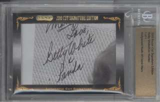 2010 Razor SE Betty White & Kim Hunter Cut Auto #1/1