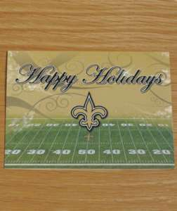 15 pack New Orleans Saints Christmas Greetings Cards