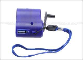 New Dynamo Hand Crank USB Cell Phone Emergency Charger