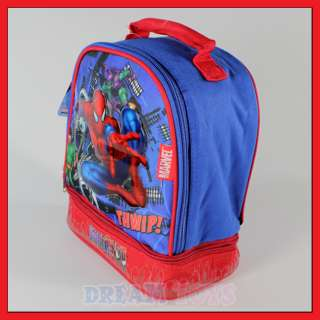 Spiderman Dual Compartment Lunch Bag   Box Layers Boys