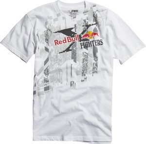 FOX RACING MENS X FIGHTER RED BULL WHTE S/S TEE T SHIRT