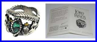 LOTR Lord Rings ARAGORN RING BARAHIR Silver OFFICIAL with CERTIFICATE