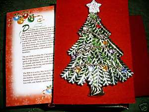 AVON 2008 COLLECTIBLE CHRISTMAS TREE PIN FIFTH ANNUAL