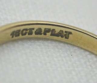 Beautiful 18ct Gold & Platinum Diamond Solitaire Ring
