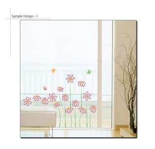 Vinyl Wall Art Sticker ★ SWEET FLOWERS ★ Mural Decals