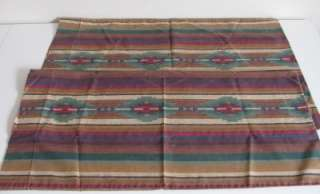 Vtg DAN RIVER Southwestern NAVAJO Ethnic PILLOW CASES 2