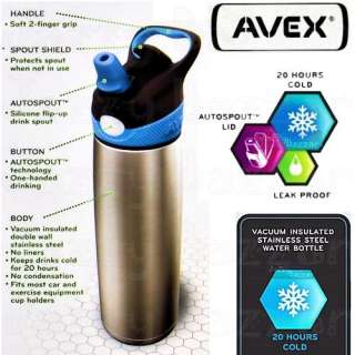 CONTIGO BPA Free Travel Eco DRINK WATER Bottle Thermos Stainless