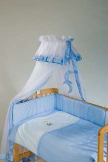 NURSERY COT Applique Baby BEDDING SET Full 5 PC NATURAL