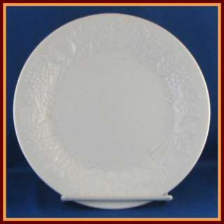 Gibson Embossed Fruit Design White Salad Plate 7 1/2
