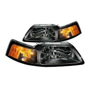 Anzo USA 121040 Ford Mustang Crystal Black Headlight Assembly   (Sold