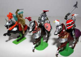 BRITAINS 6 KNIGHTS W3/HORSES FIGURES 1971 & 1992 LOT