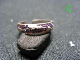 Sterling Silver Toe Rings w/enamel(18 designs )#1