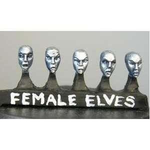 Hasslefree Miniatures Little Bits   Elf female heads (a