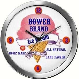 BOWER 14 Inch Ice Cream Metal Clock Quartz Movement