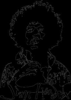 Jimi Hendrix vinyl wall art decal sticker