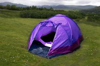 volve large 3 Man Dome Camping / Festival Tent   Pur Enlarged