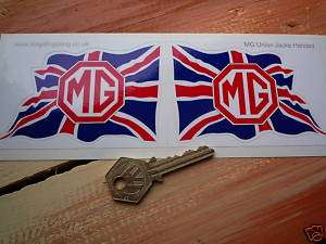 MG UNION JACK handed classic car stickers MGB MGC F TF