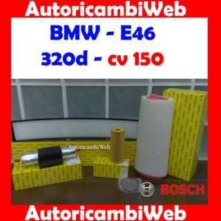 KIT TAGLIANDO FILTRI BOSCH BMW 320 d E46 dal 98 cv 150