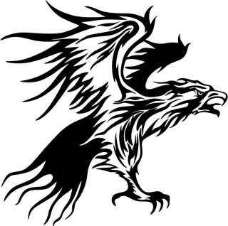 Tribal Flames EAGLE Car/Vehicle Stickers Decal