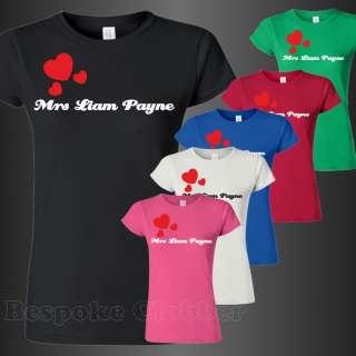 Mrs Liam Payne One Direction Ladies T shirt shirts sizes S M L XL XXL