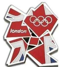 London 2012 Olympic Games Union Jack Scarf Tie Coat and Jacket Pin