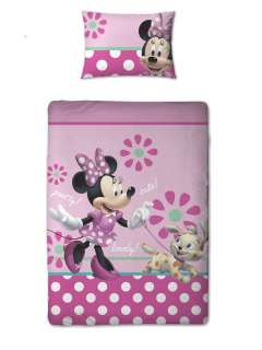 MINNIE MOUSE JUNIOR COT BED PRETTY DUVET COVER NEW