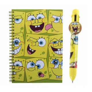 spongebob squarepants note pad and pen set 100 % official nickelodeon