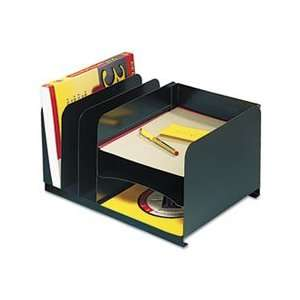 Vertical/Horizontal Combo Organizer, Six Sections, Steel