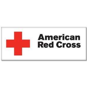 American Red Cross flag car bumper sticker decal 6 x 3